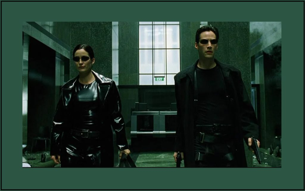Classic shot from The Matrix