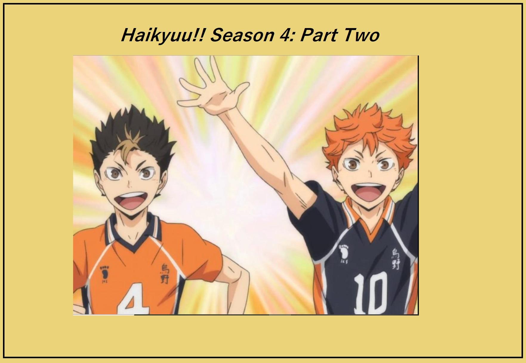 Haikyuu Season 4