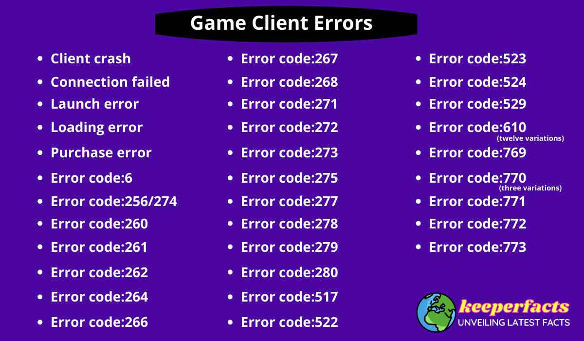 Game-Client-errors