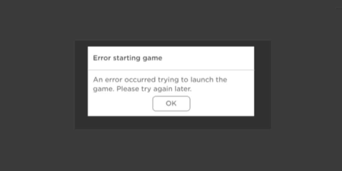 Launch error