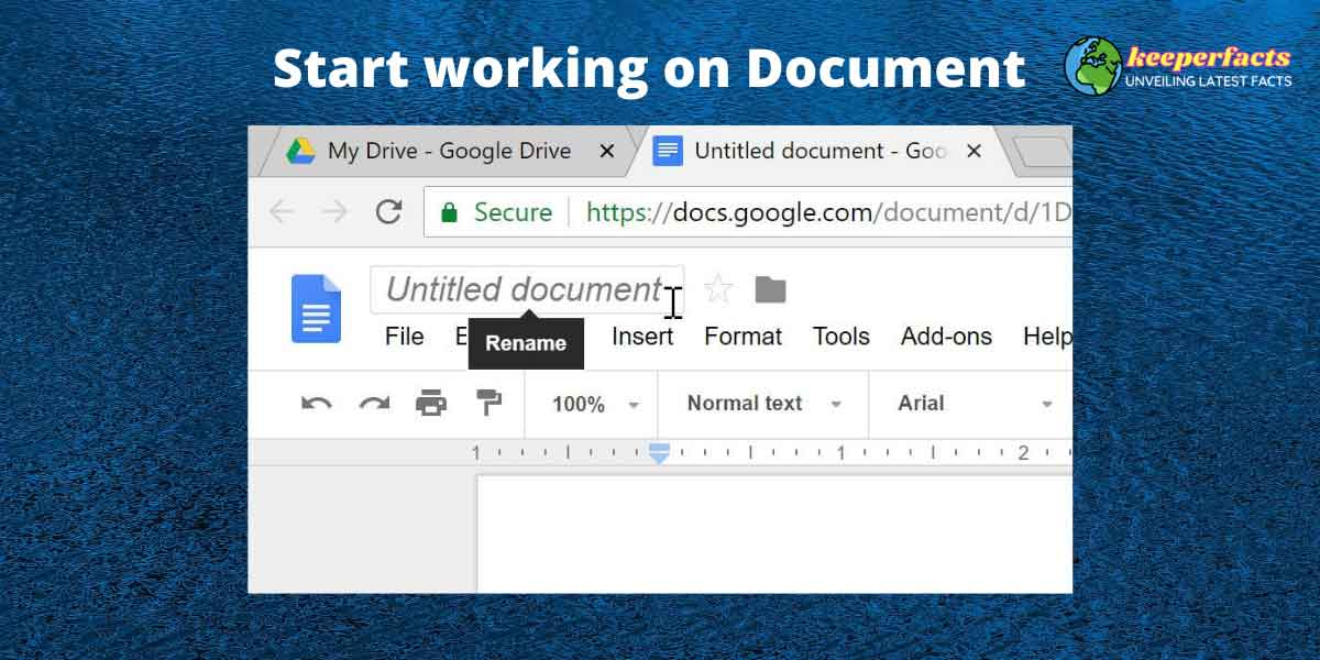 working on google docs