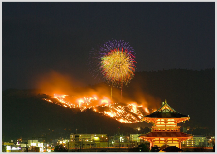 wakakusa yamayaki festival