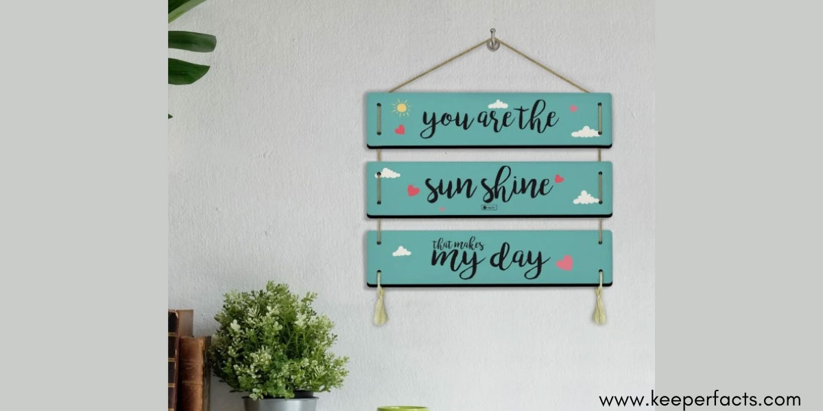 3-Panel Wooden Wall Hanging Plaque
