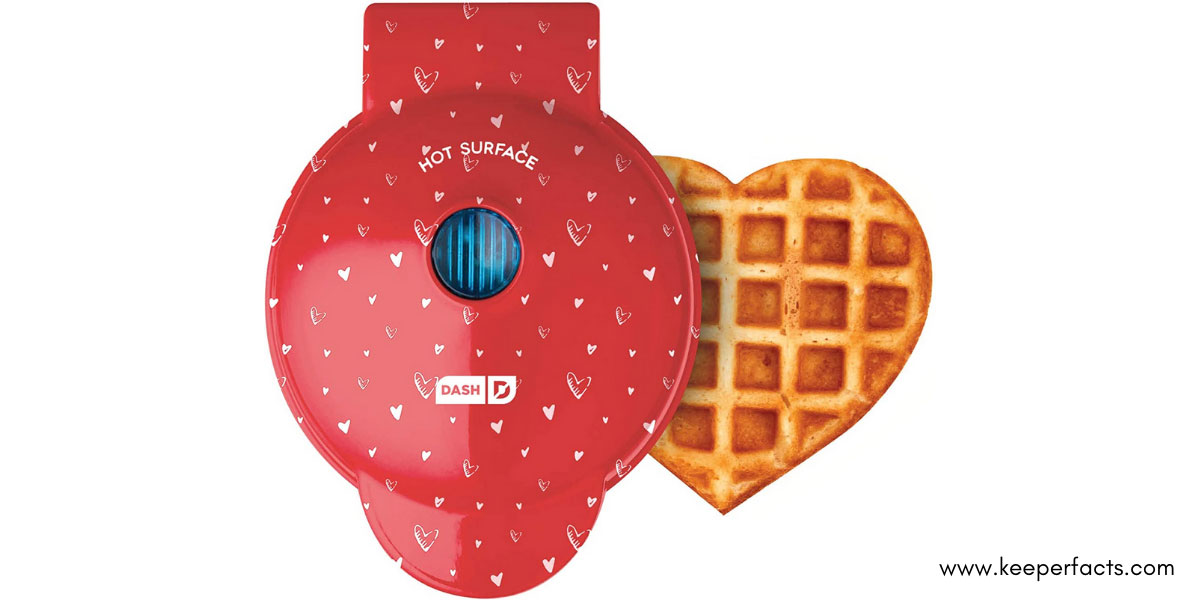 Mini Heart-Shaped Waffle Maker