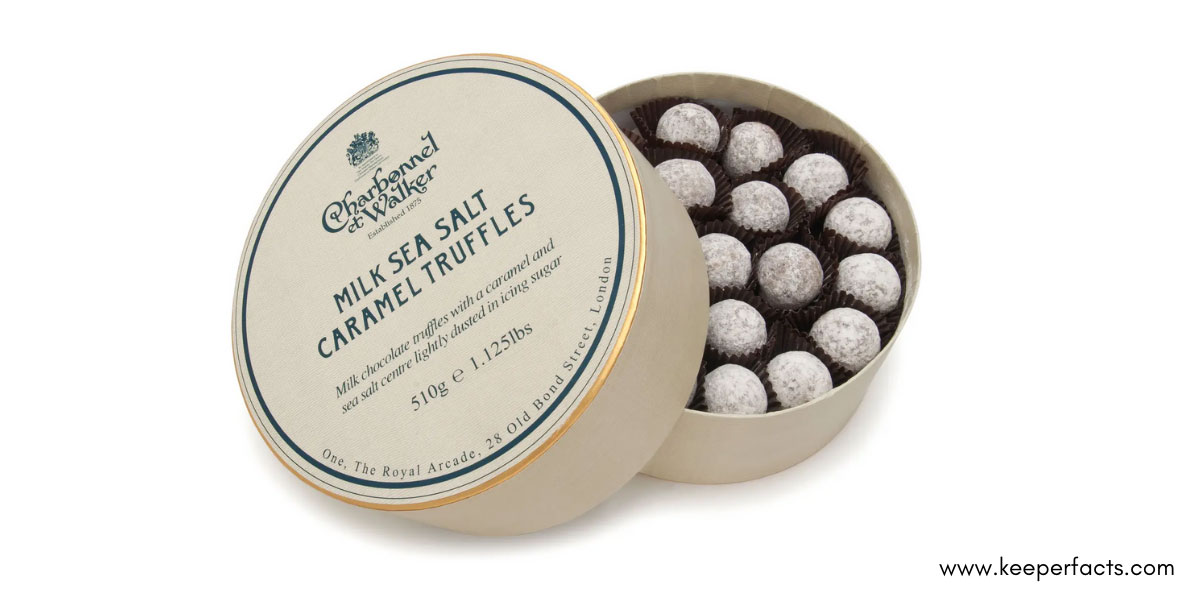 Flavored Chocolate Truffles In Gift Box