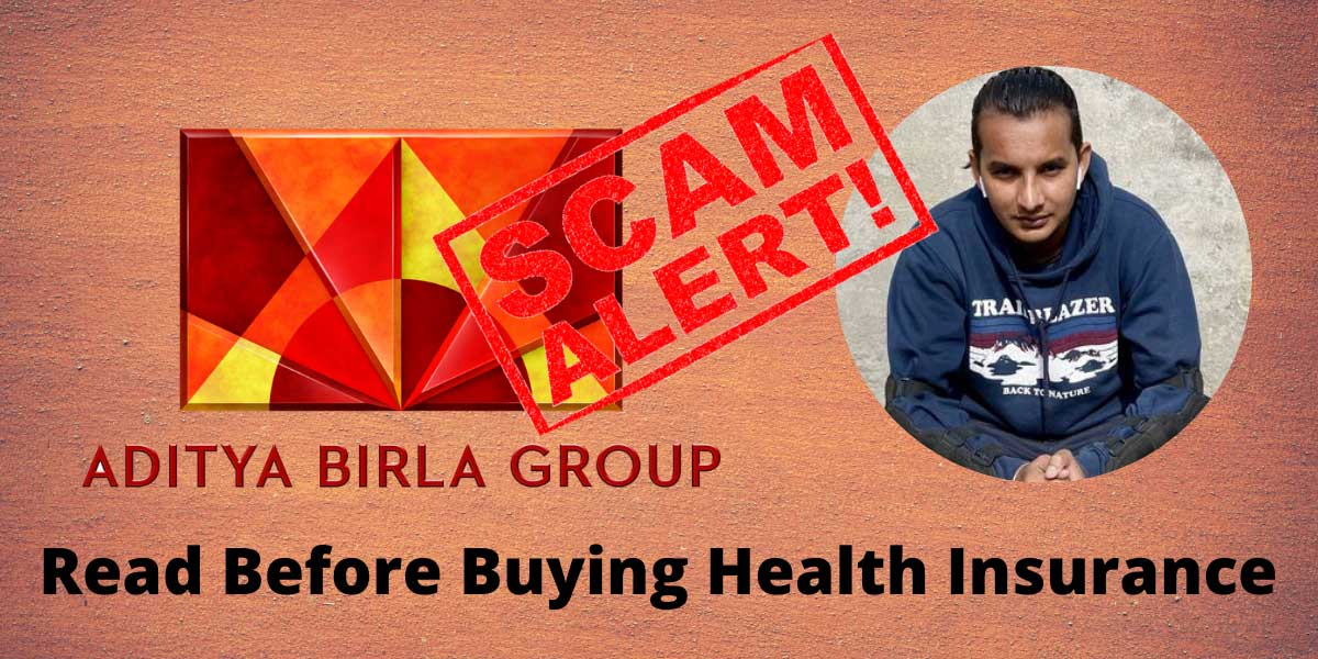 "Aditya Birla Scam Exposed: A Digital Marketer Got Scammed on the Name of ""Health Insurance"" Policy 1"
