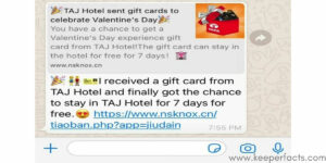 whatsapp valentine scam