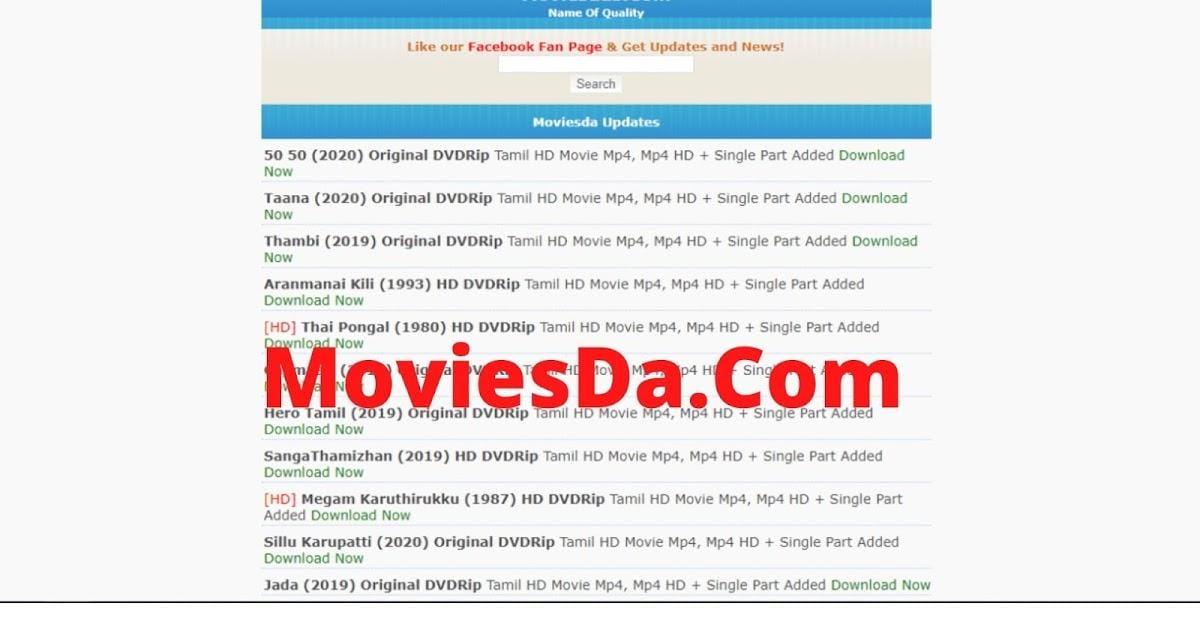Moviesda: Download Movies, Tamil Movies, Bollywood & Hollywood Movies