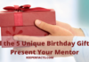 Find the 5 Unique Birthday Gifts to Present Your Mentor