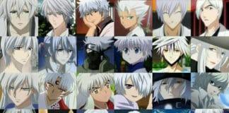 white hair anime boy